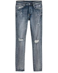 H&M | Skinny Trashed Jeans | Lyst