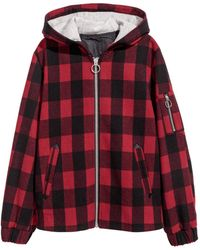 H&M - Felted Jacket With A Hood - Lyst