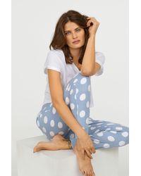 H&M - Fleece Pajama Pants - Lyst