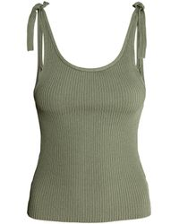 H&M - Ribbed Top - Lyst
