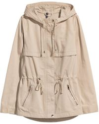 H&M - Short Parka With A Hood - Lyst