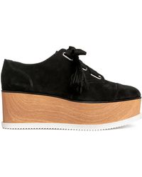 H&M - Suede Platform Shoes - Lyst