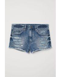 H&M - Denim Shorts Skinny Regular - Lyst