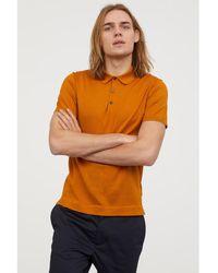 H&M - Silk-blend Polo Shirt - Lyst