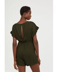 H&M - Jumpsuit With Ties - Lyst