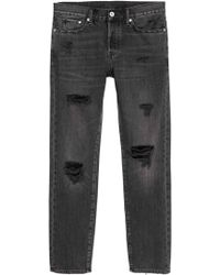 H&M - Trashed Straight Jeans - Lyst