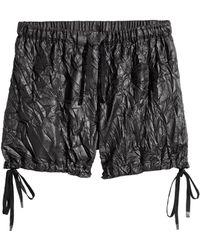 H&M - Crinkled Nylon Shorts - Lyst