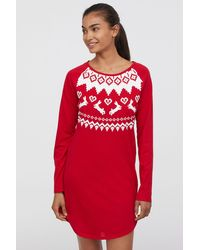 H&M - Nightgown With Printed Design - Lyst