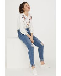 H&M - Petite Fit Girlfriend Jeans - Lyst