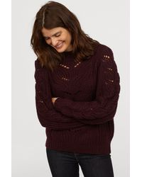 H&M - Cable-knit Jumper - Lyst