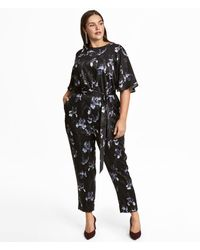 bf79099044e5 Lyst - Abercrombie   Fitch Patterned Jumpsuit in Blue