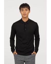 H&M - Long-sleeved Merino Wool Top - Lyst