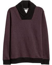 H&M - Shawl-collar Top - Lyst