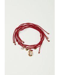 H&M 5-pack Bracelets - Red