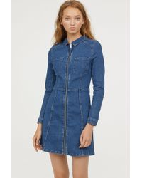 H&M - Fitted Shirt Dress - Lyst