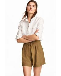 H&M High-waisted Shorts - Natural