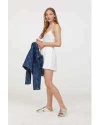 H&M - Broderie Anglaise Playsuit - Lyst