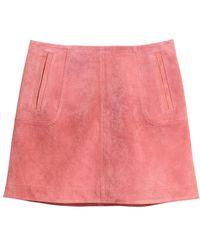 H&M - Short Suede Skirt - Lyst