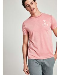 Hackett - 3detail Cotton Jersey T-shirt - Lyst