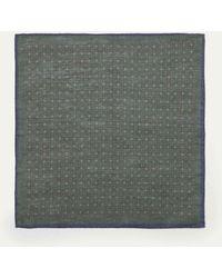 Hackett   Medallion Patterned Linen And Cotton-blend Pocket Square   Lyst