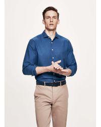 Hackett - Denim Houndstooth Cotton Shirt - Lyst