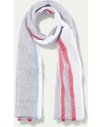 Hackett - Striped Linen And Cotton-blend Scarf - Lyst