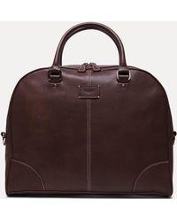 Hackett - Stitch Trim Leather Slim Documents Bag - Lyst