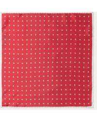 Hackett - Pine Print Silk Pocket Square - Lyst