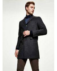 Hackett Wool And Cashmere Coat - Gris