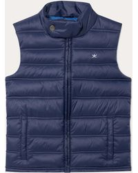 Hackett - Quilted Logo-embroidered Gilet - Lyst