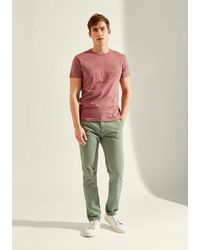 Hkt Garment-dyed Stretch Chinos - Green