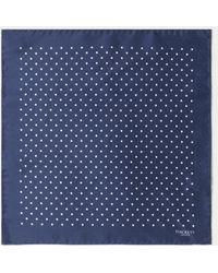 Hackett - Classic Dot Silk Pocket Square - Lyst