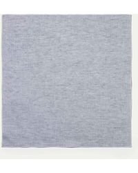 Hackett   Two-tone Linen Pocket Square   Lyst