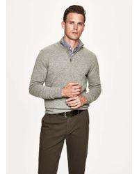 Hackett - Merino Wool And Cashmere-blend Half Zip Jumper - Lyst