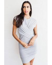 FRAME Shirred Muscle Dress - Multicolor