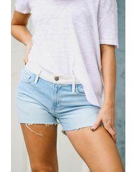FRAME Le Grand Garcon Shorts - Blue