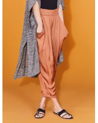 Halston - Ruched Pant - Lyst