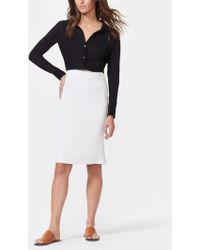 Halston Crepe Pencil Skirt - Black