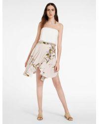 Halston Heritage | Printed Flounce Skirt | Lyst