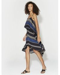 Halston - Printed Layered Flounce Dress - Lyst