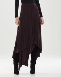 Halston Ella Jersey Pleat Skirt - Black