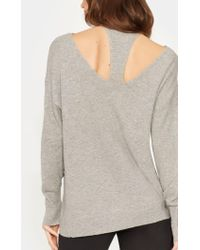 Halston - Sweater With Cut Outs - Lyst