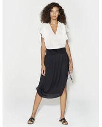 Halston - Ruched Midi Skirt - Lyst