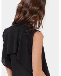 Halston - Layered Top With Pintucking Detail - Lyst