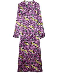 Marni Dress In Pink Clematis - Purple