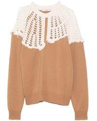 Tibi Lana Crochet Collar Pullover - Multicolor
