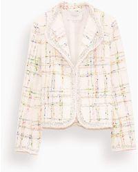 Giambattista Valli Tweed Blazer Jacket - Natural