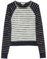 Rag & Bone The Knit Striped Pullover - Grey