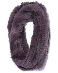Yves Salomon Rex Rabbit Snood - Purple