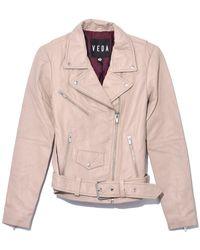 VEDA Jayne Smooth Leather Jacket - Multicolor